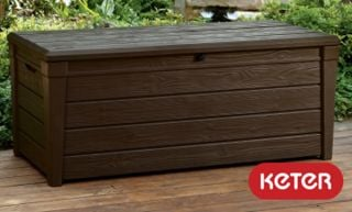 Keter Saxon Wood Look 454L Garden Storage Box