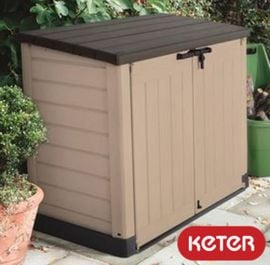 Keter 1200L Hideaway Storage Shed and Bin Store