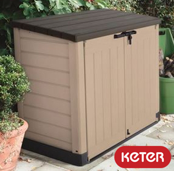 Keter Hideaway 1200L Storage Shed and Bin Store