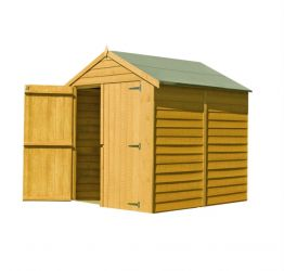 Overlap Apex Shed Double Door 6 x 6ft (183 x 183cm)