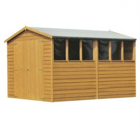 Overlap Apex Shed Double Door 10 x 6ft (305 x 183cm)