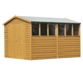 Overlap Apex Shed Double Door 12 x 8ft (366 x 244cm)