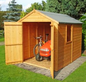 Apex Shiplap Shed Double Door 8 x 6ft (244 x 183cm)
