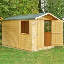 Guernsey Apex Shiplap Shed Double Door 7 x 10ft (213 x 304cm)