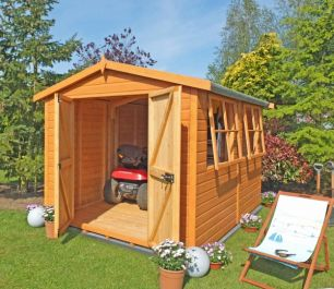 Bison Heavy Duty Apex Shed 16 x 10ft (488 x 305cm)
