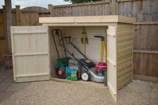 Shiplap Pent Large Outdoor Store H145cm x W193cm - Pressure Treated