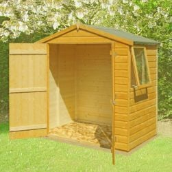 Bute Apex Shiplap Shed inc Double Door 6 x 4