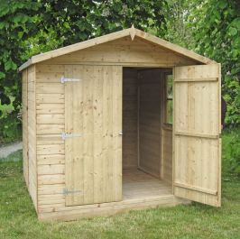 Alderney Pressure Treated Apex Shed 7 x 7