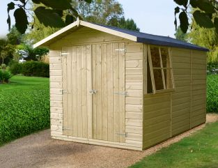 Guernsey Pressure Treated Apex Shed 7 x 10