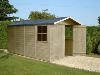 Jersey Pressure Treated Apex Shed 7 x 13