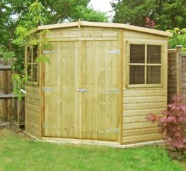 Corner Shed 7 x 7 Pressure Treated