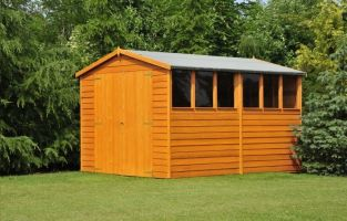 10ft x 8ft Overlap Double Door Shed FSC Wood