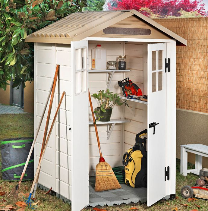 Tuscany Evo 120 PVC 2 Door Box Section Shed 7ft x 4ft