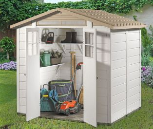 Tuscany Evo 200 PVC 2 Door Box Section Shed 7ft x 6ft