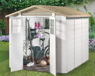Tuscany Evo 240 PVC 2 Double Door Apex Shed 7ft x 6ft
