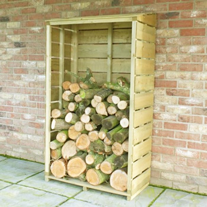 Pressure Treated Tall Wall Log Store Sawn