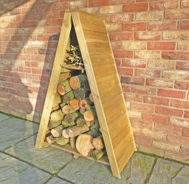 Small Triangular Log Store Overlap Pressure Treated