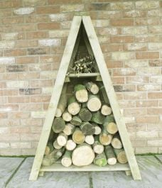 Small Tongue & Groove Triangular Log Store Pressure Treated