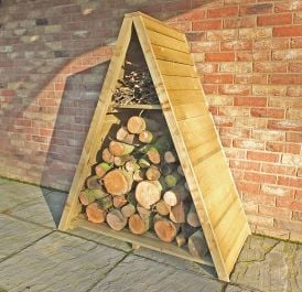 Large Triangular Log Store Overlap Pressure Treated