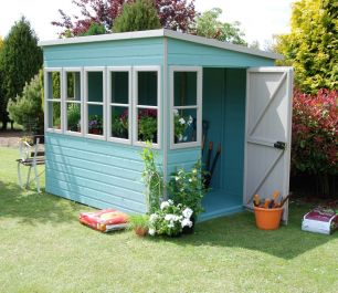 Sun Pent Shed 8ft x 8ft