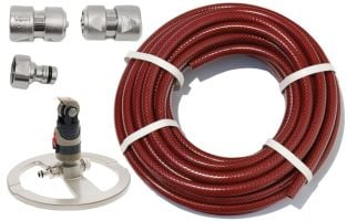 "15m Garden Hose Kit with ½"" Geka® Connectors and Circular Multi-Sprinkler"