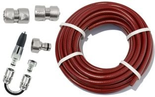 "15m Garden Hose Kit with ½"" Geka® Connectors and Spray Nozzle Starter Set"
