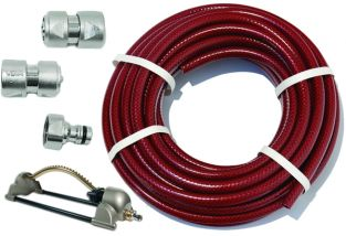 "15m Garden Hose Kit with ½"" Geka® Connectors and Oscillating Sprinkler"