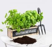 34cm Wooden Personalised Herb Garden Windowsill Planter