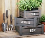 Personalised Handi-Crate Gift Set with 3 Garden Tools
