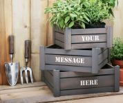 Personalised Handi-Crate Gift Set with 2 Garden Tools