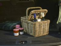Kubu Willow Picnic Basket in Soft Grey