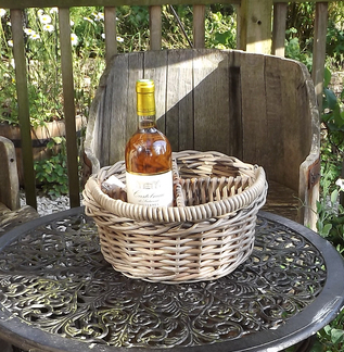 Round Kubu Split Willow Bottle Basket