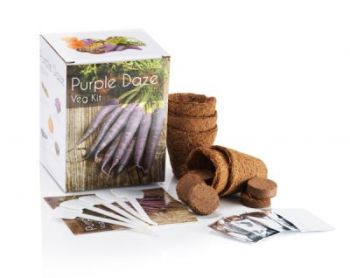 Purple Daze Vegetable - Grow Your Own Herb Garden Kit - 5 Unique Vegetables to Grow