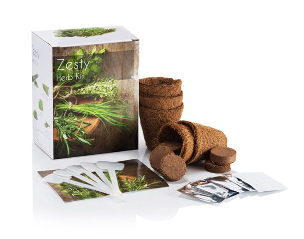 Zesty Kit - Grow Your Own Herb Garden Kit - 5 Tantalising Herbs to Grow