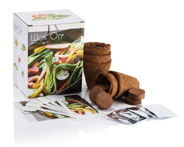 Wok On Vegetable - Grow Your Own Herb Garden Kit - 5 Enticing Vegetables to Grow