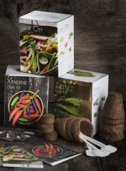 Ultimate Grow Your Own Gift Kit Herbs, Stir-Fry Veg & Chilli Collection - 3 Packs Included