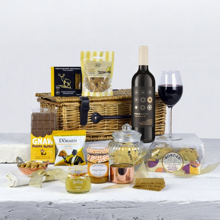 Gift Hamper Red Wine And Treats