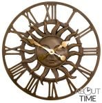 "Decorative Garden Sun Clock in a Copper Finish - 38cm (15"") by About Time�"