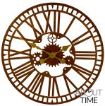 "Mechanical Metal Garden Clock in a Rust Finish - 40cm (15.7"") by About Time�"
