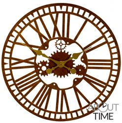"Mechanical Metal Garden Clock in a Rust Finish - 40cm (15.7"") by About Time™"
