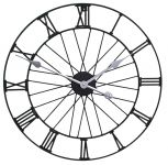 "Bicycle Wheel Metal Garden Clock in a Black Painted Finish - 50cm (19.7"") by About Time�"