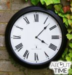 "Perfect Time Radio Controlled - 38cm (15"") Outdoor Garden Clock - Black - by About Time™"