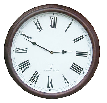 "Perfect Time Radio Controlled Garden Clock - 38cm (15"") - by About Time™"