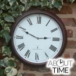 "Perfect Time Radio Controlled Garden Clock - 38cm (15"") - by About Time�"