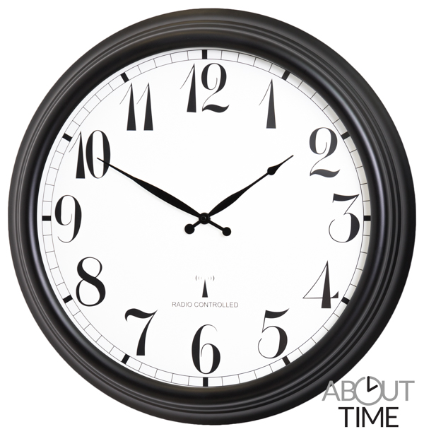 57cm Perfect Time Large Black Outdoor Clock - About Time™