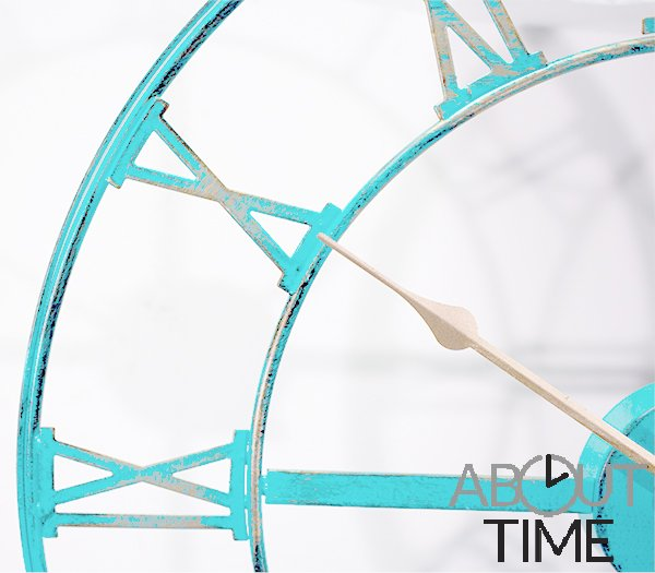 "Metal Garden Clock in a Antique Patina Finish - 46cm (18"") by About Time™"