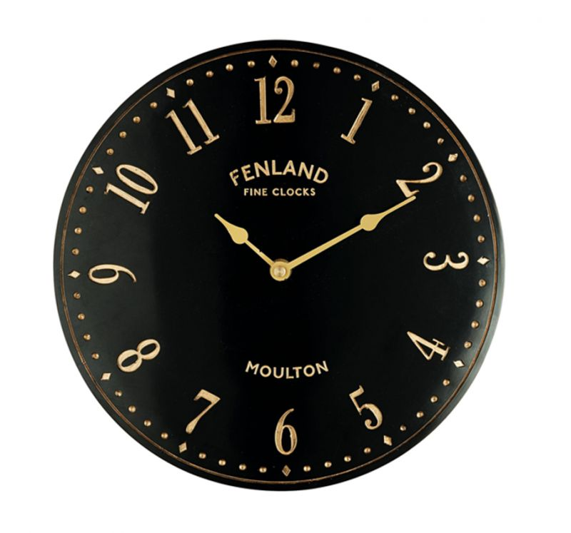 "Black Stable Garden Wall Clock 28cm (11"")"