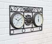 Wall Frame Sun Clock and Thermometer