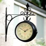 Kensington Station Double Sided Garden Wall Clock