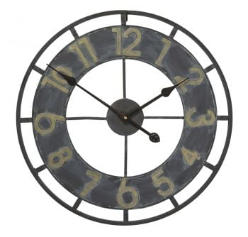 "Shaftesbury Open Faced Brushed Metal Garden Clock - 50cm (19.6"")"